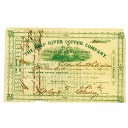 Deep River Copper Co., Issued Stock.