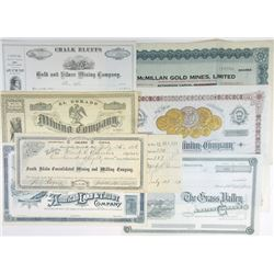 Large Group of Issued and Unissued Stock Certificates, 1880-1936