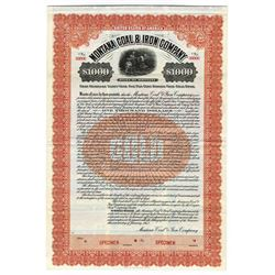 Montana Coal & Iron Co. 1912 Specimen Bond.