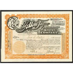 Yellow Tiger Consolidated Mining Co. 1917 Issued Stock Certificate