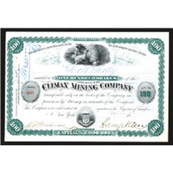 Climax Mining Co., Issued Stock.