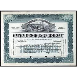 Cauca Dredging Co., ca.1900-1920 Specimen Stock Certificate.