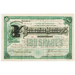 Submarine Monitor Co. of N.Y., 1885 Issued Stock Certificate