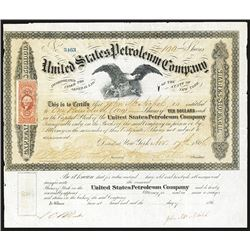 United States Petroleum Co., 1866 Issued Stock Certificate