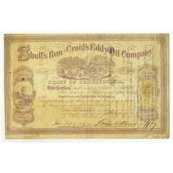 Shull's Run and Craig's Eddy Oil Co., 1865 Stock Certificate.