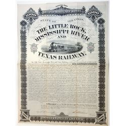 Little Rock, Mississippi and Texas Railway Co., 1881 Issued Bond.