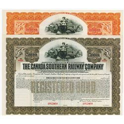 Canada Southern Railway Co., 1912 Specimen Bond Pair.