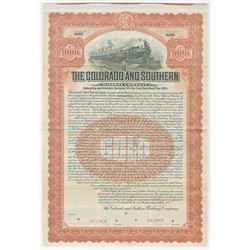 Colorado and Southern Railway Co., 1905 Specimen Bond