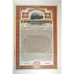 Denver and Rio Grande Western Railroad Co., 1924 Specimen Bond.