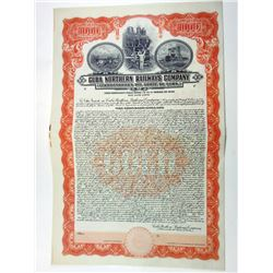 Cuba Northern Railways Co., 1927 Specimen Bond.