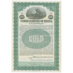 United Railways of Havana, 1921 Specimen Bond.