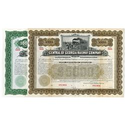 Central of Georgia Railway Co., 1905 Pair of Specimen Bonds