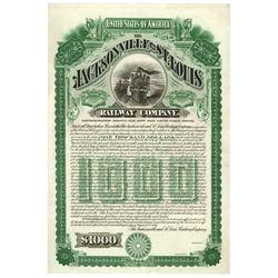 Jacksonville & St. Louis Railway Co., 1896 U/U Bond