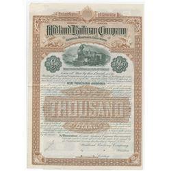Midland Railway Co., 1885 Specimen Bond.