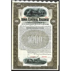 Iowa Central Railway Co., 1901 Specimen Bond.