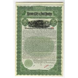 Mason City & Fort Dodge Railroad Co., 1905 Specimen Bond.