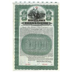 Augusta-Aiken Railway & Electric Corp., 1910 Specimen Bond