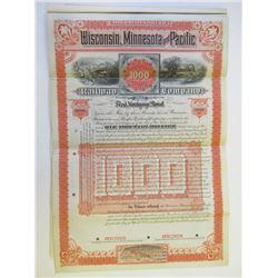 Wisconsin, Minnesota and Pacific Railway Co., 1884 Specimen Bond