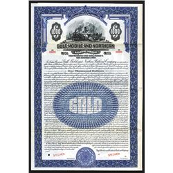 Gulf, Mobile and Ohio Railroad Co.1926 Specimen Bond.