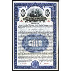 Gulf, Mobile and Ohio Railroad Co.1926 Specimen Bond.