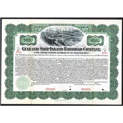 Gulf and Ship Island Railroad Co., 1902 Specimen Registered Bond.