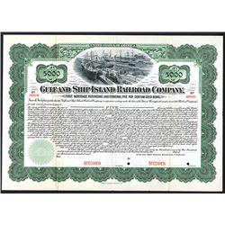 Gulf and Ship Island Railroad Co., 1902 Specimen Registered Bond.