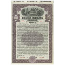 Kansas City Railways Co., 1915 Specimen Bond.