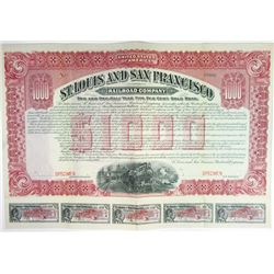 St. Louis and San Francisco Railroad Co., 1906 Specimen Bond