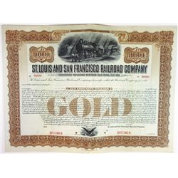 St. Louis and San Francisco Railroad Co., ca.1900-1910 Specimen Bond