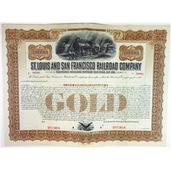 St. Louis and San Francisco Railroad Co., ca.1900-1910 Specimen Bond