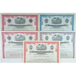 St. Louis-San Francisco Railroad Co., 1947 Specimen Bond Quintet.
