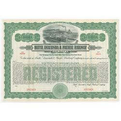 Butte, Anaconda & Pacific Railway Co., 1914 Specimen Bond
