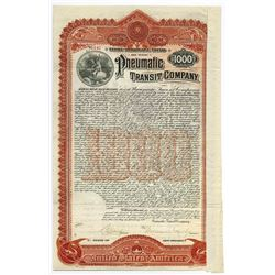 Pneumatic Transit Co., 1898 Issued Bond.