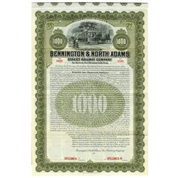 Bennington & North Adams Street Railway Co., 1907 Specimen Bond