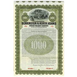 Bennington & North Adams Street Railway Co., 1907 Specimen Bond