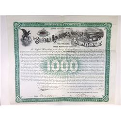 Buffalo, Hamburg & Aurora Railway Co., 1900 Issued Bond.
