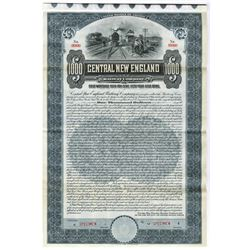 Central New England Railway Co., 1911 Specimen Bond