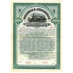 Greenwich and Johnsonville Railway Co., 1904 Specimen Bond