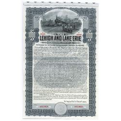 Lehigh and Lake Erie Railroad Co. 1907 Specimen Bond.