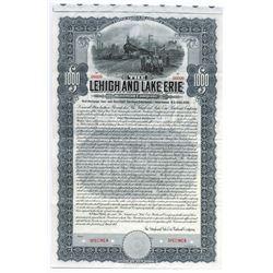 Lehigh and Lake Erie Railroad Co. 1907 Specimen Bond.