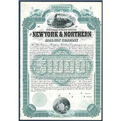 New York & Northern Railway Co., 1887 Specimen Bond.
