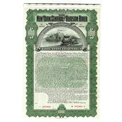 New York Central and Hudson River Railroad Co., 1898 Specimen Bond