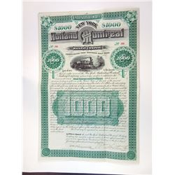 New York, Rutland and Montreal Railway Co., 1884 Issued Bond Pair