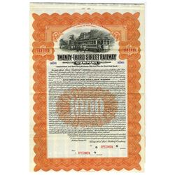 Twenty-Third Street Railway Co., Specimen Bond.