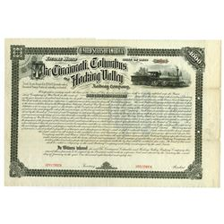 Cincinnati, Columbus and Hocking Valley Railway Co., 1882 Specimen Bond