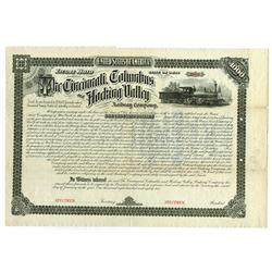 Cincinnati, Columbus and Hocking Valley Railway Co., 1882 Specimen Bond