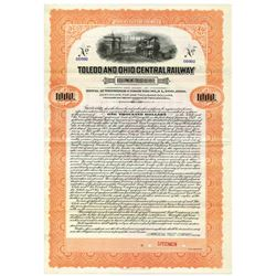 Toledo and Ohio Central Railway Equipment Trust of 1917 Specimen Bond