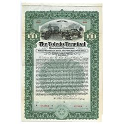 Toledo Terminal Railroad Co., 1907 Specimen Bond.