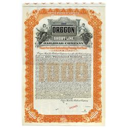 Oregon Shortline Railroad Co., 1904 Specimen Bond.