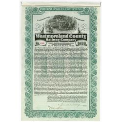 Westmoreland County Railway Co. 1905 Issued Bond.